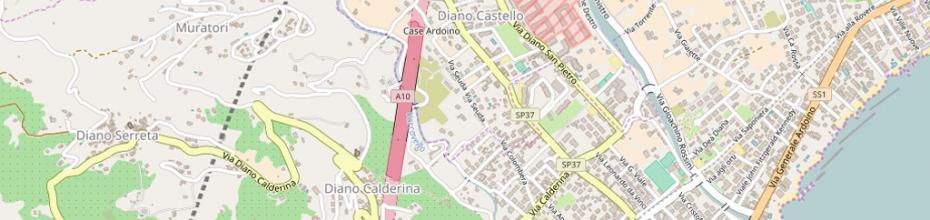 Cartina Diano Marina (www.openstreetmap.org)