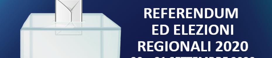 Referendum ed Elezioni Regionali 20 e 21 settembre 2020